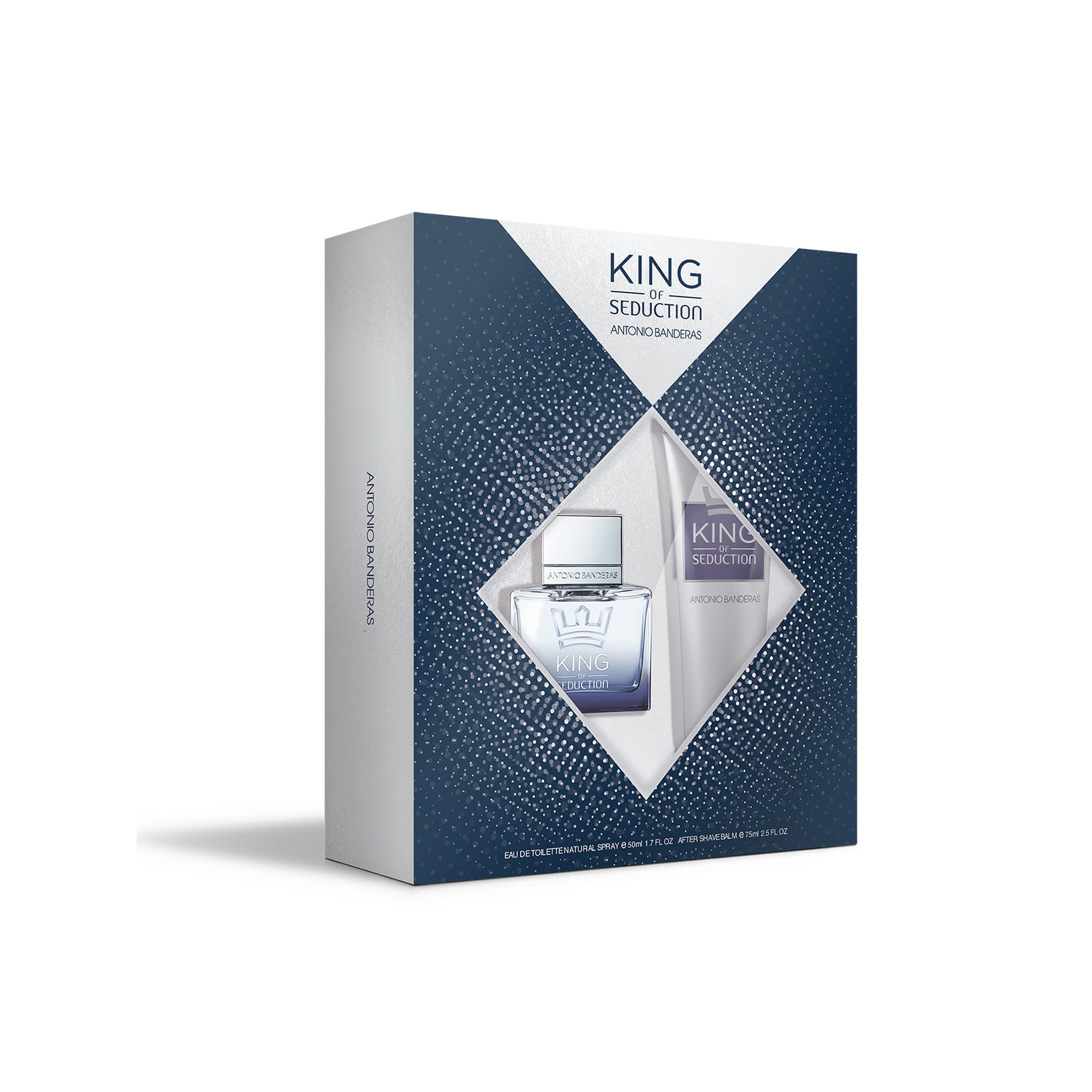 Perfume Antonio Banderas King Of Seduction Set Toilet Water 50 Ml + Balm