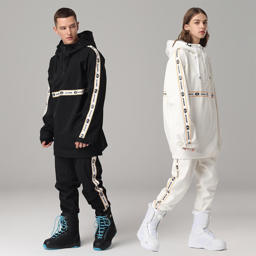 Winter Men Warm Ski Suit Women Waterproof Windproof Skiing and Snowboarding Jacket Pants Set Female Trousers Costumes Outdoor W