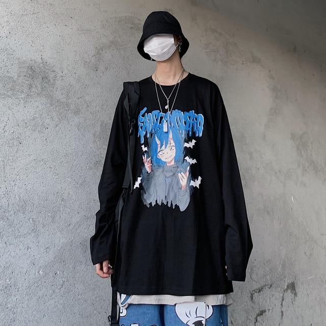 Фото универсальная хлопковая винтажная футболка в стиле хип хоп с цена