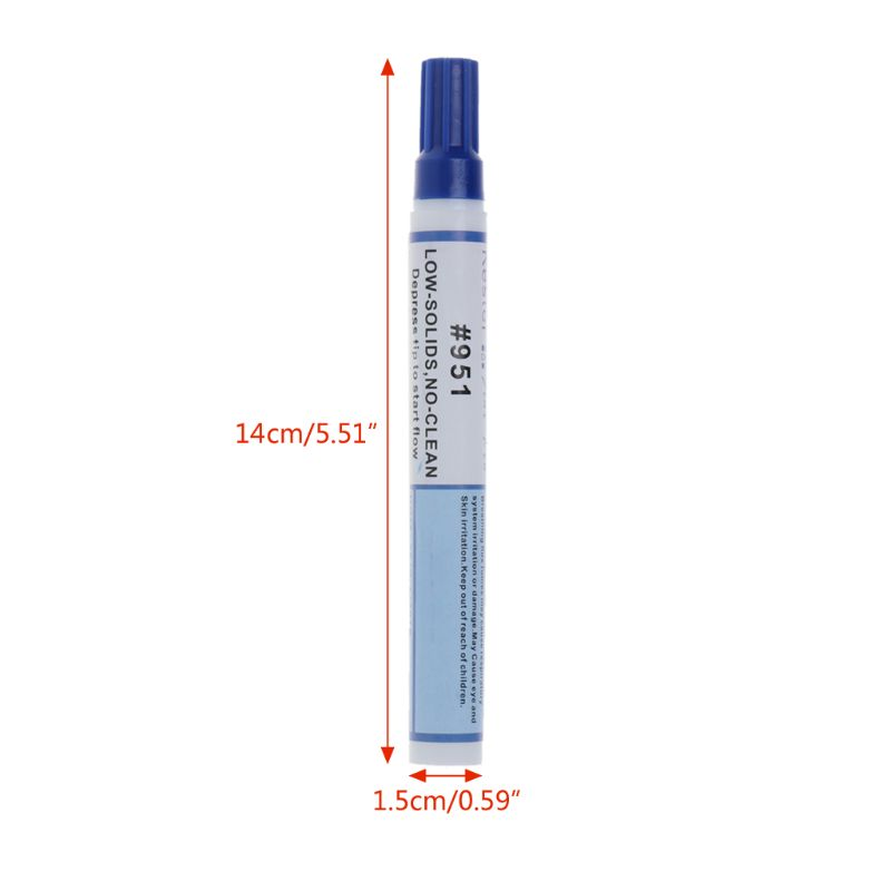 951 10ml Soldering Rosin Flux Pen Low-Solid Non-clean DIY Kester Solder Power