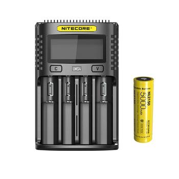NITECORE UMS4 USB czterokanałowy ekran OLED ładowarka NITECORE 21700 akumulator litowo-jonowy NL2150 5000mAh 3 6V 18Wh tanie i dobre opinie CE RoHS CCC batteries charger