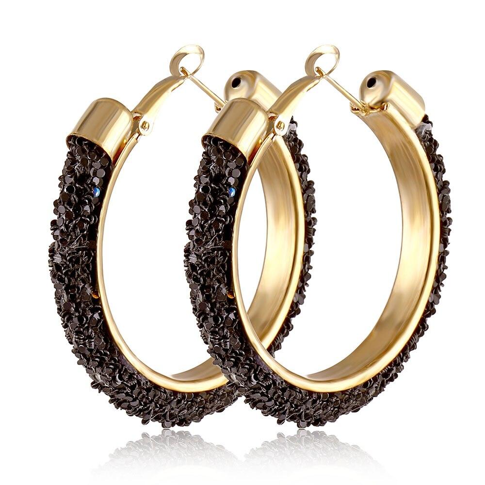 IPARAM, новинка, большие круглые серьги-кольца для женщин, модные, массивные, золотой, в стиле панк, очаровательные серьги, вечерние ювелирные изделия - Окраска металла: IPA0108-4