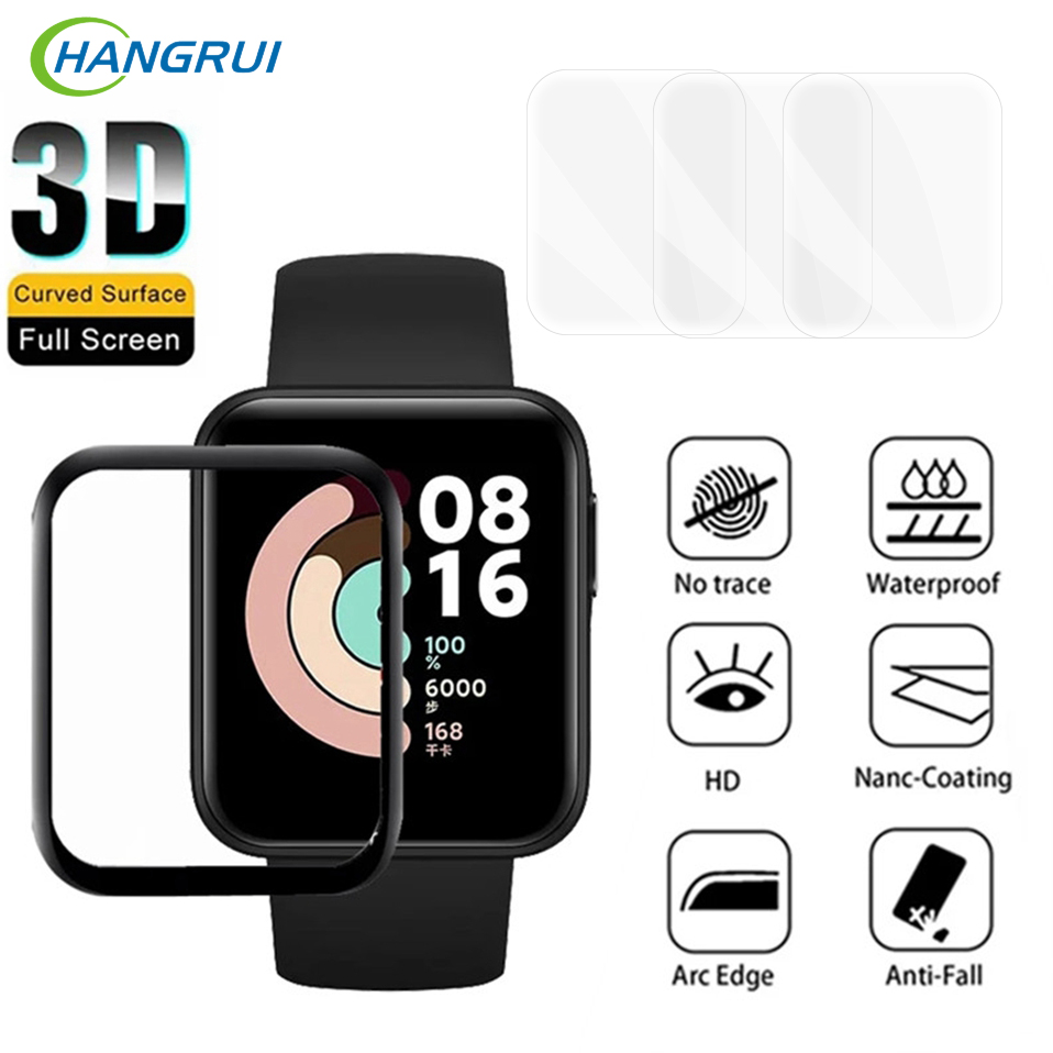 Не закаленное стекло для XiaoMi Mi Watch Lite защита экрана Защитная пленка для RedMi Watch полное покрытие умные часы мягкое стекло