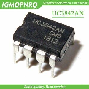 10 pçs frete grátis uc3842an uc3842 dip switching controladores modo atual dip-8 novo original