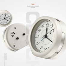 Мини круглые часы Многофункциональные цифровые светящиеся часы-будильник с ночным повтором функция прочный домашний декор