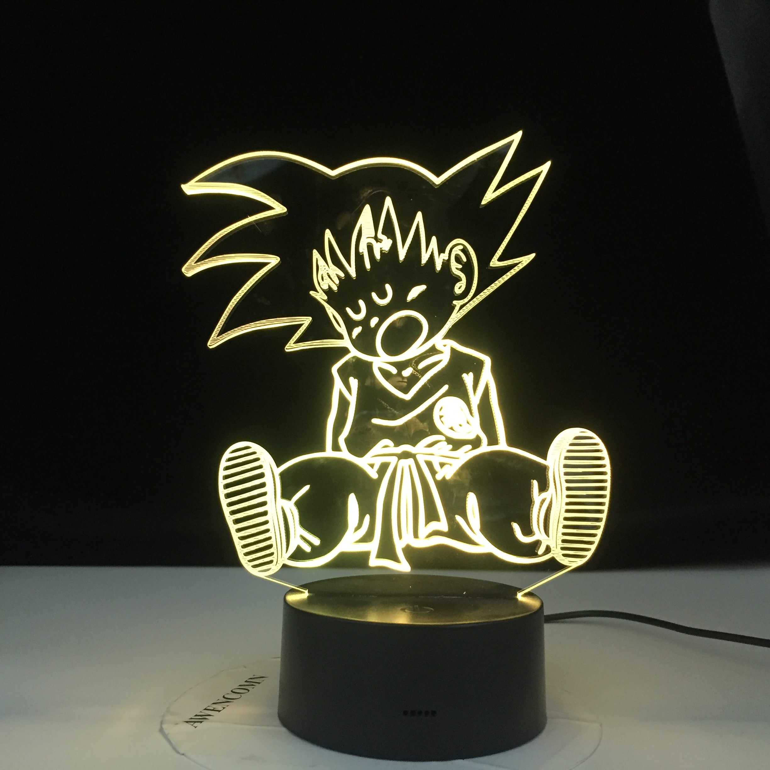 Baby Goku Sleep Figure Night Light for Bedroom Decoration 16 Colors Changing Usb Table 3d <font><b>Lamp</b></font> <font><b>Dragon</b></font> <font><b>Ball</b></font> Led Night Light Gift image