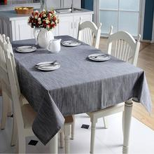 50 Korean Cotton Linen Tablecloth Solid Color Light Blue Dust-proof Table Cloth Wedding Banquet Rectangular Cover Cloth