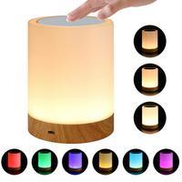 Batería recargable luz táctil Led de noche innovadoras poco luz de noche lámpara para lactancia 6 colores de luz ajustable lámpara de noche
