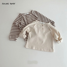 Outfits Sweaters Knitted Newborn Baby-Boys-Girls Winter Autumn Cotton Striped Long-Sleeve