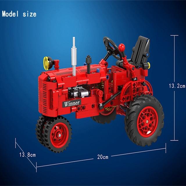 MOC City Creator Classical Tractor 302pcs High-tech DIY Building Blocks Bricks fun Toys For Children Birthday Gifts brinquedo 2