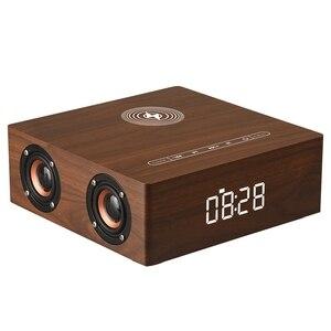 JABS Q5A многофункциональное Беспроводное зарядное устройство Будильник Bluetooth динамик подходит для iPhone стерео музыкальный плеер Музыка объем...