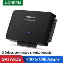 Ugreen SATA к USB IDE адаптер USB 3,0 2,0 Sata 3 кабель для 2,5 3,5 жесткого диска HDD SSD USB конвертер IDE SATA адаптер