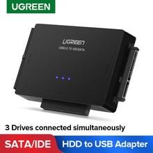Ugreen SATA na USB Adapter IDE USB 3.0 2.0 Sata 3 kabel do 2.5 3.5 napęd dysku twardego HDD SSD konwerter USB IDE Adapter SATA