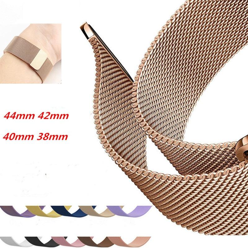 Milanese Loop Apple Watch Band 38mm 42mm Bracelet Apple Watch 40mm 44mm Strap Apple Watch 5 Band Belt Apple Watch Armband 5 Link