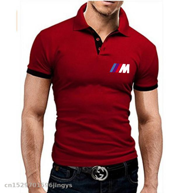 New Motorcycle Men's Polo Shirt Summer Short Sleeve For Bmw  T Shirts High Quality Sports Jerseys Top Tees Turn-down Collar Polo