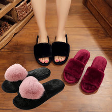 Newest Winter Woman Cotton slippers Indoor Slip on Faux Fur Warm Shoes non-slip home Slippers Flats Female House 34-41