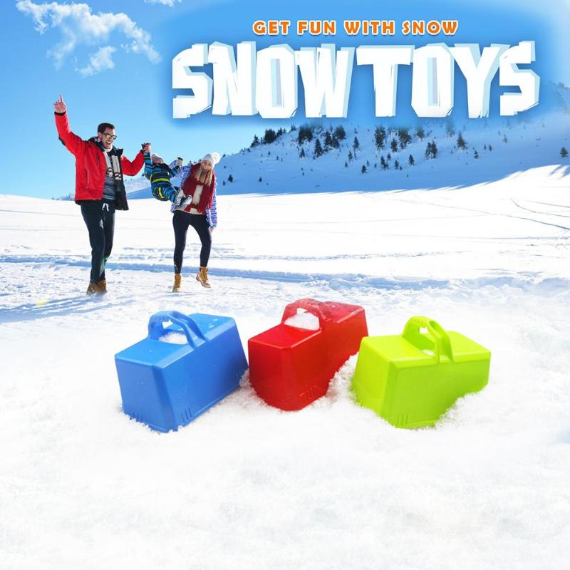 Outdoor Playing Funny Winter Plastic Snow Sand Snow Block Mold Children Kids Castle Foundation Brick Making Mould Tools