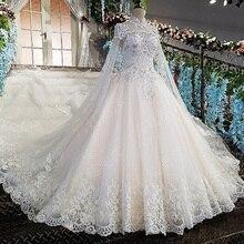 AIJINGYU 2021 웨딩 드레스 인도 가운 투명 공 플러스 크기 신부 판매 원래 섹시한 상점 이슬람 웨딩 드레스