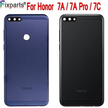 Oryginalny nowy dla Huawei Honor 7A Pro Aum-l29 Honor 7C Aum-L41 Honor 7A tylna pokrywa baterii obudowa tylnych drzwi dla HUAWEI Honor 7C tanie i dobre opinie fixparts CN (pochodzenie) Glass For huawei honor 7c honor 7a honor 7a Pro With in 1-3 Days After Payment Black Blue Gold