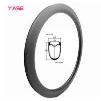 Roda de disco 700c aro da bicicleta de estrada de carbono aro de disco 26 largura 38 profundidade assimetria jantes de disco de bicicleta sem câmara tubular roda de estrada aro|Aros| |  -
