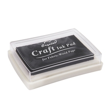 Stationery Ink-Pad Craft Rubber-Stamp Office-Supplies Safe Finger-Print Non-Toxic Black