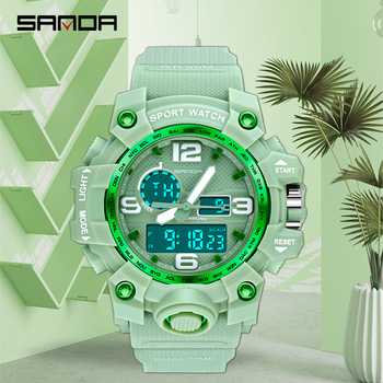 SANDA Military Men's Watches Top Brand Luxury 30m Waterproof Sport Wrist Watch Men Quartz Clock Male Watches relogio masculino top luxury brand sanda men sport watches men s quartz led analog clock man military waterproof wrist watch relogio masculino new