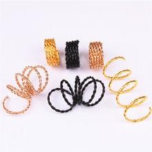 10PCS Scaling Metal Spring Tube Ring Dreadlock Beads For Braids Hair Beads For Dreadlocks Adjustable Hair Braid Cuff Clips