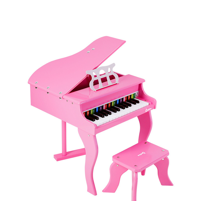 Educazione Della Prima Infanzia in Legno Meccanico Pianoforte Simulazione Musica Musicale Apprendimento Educativi Strumenti di Lusso Giocattolo Del Capretto Del Regalo - 3