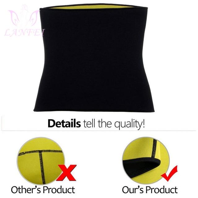 LANFEI Women Waist Trainer Belt Slimming Sweat Body Shaper Girdle Neoprene Waist Cincher Modeling corset Strap for Fat Burning 5