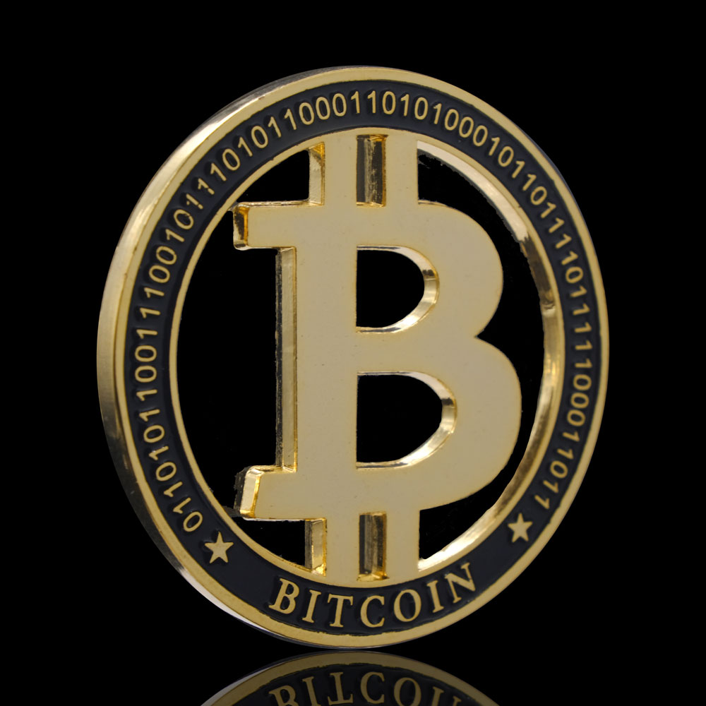 Gold Plated Bitcoin BTC Bit Souvenirs Coins Currency Challenge Hollow Coin Gift Medal Antique Collectible Crypto