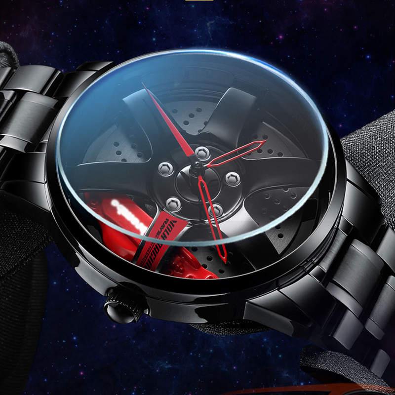 NIBOSI Wheel Rim Hub Watch Custom Design Sport Car Rim Watches Waterproof Creative Relogio Masculino 2020 Watch Man Wrist Watch 2