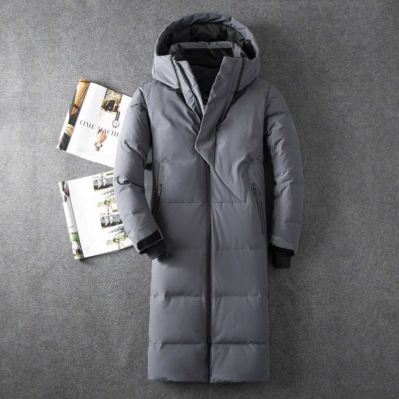 Outerwear Padded-Jackets Overcoat Duck-Down Hooded Winter Mens Extra Male Man Thick Fashion title=