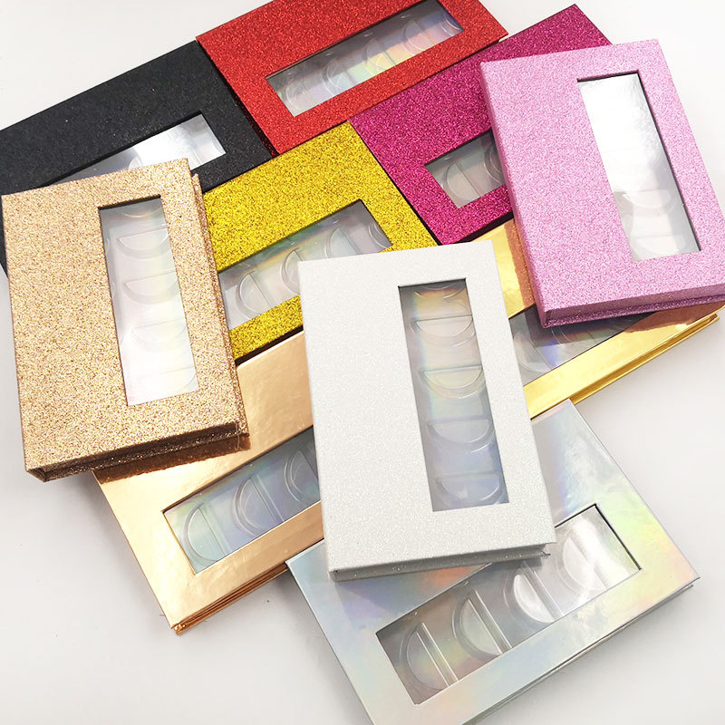 Mink Lashes Packaging Eyelash Box Wholesale Lash Book 5 Pairs Faux EyeLashes Book