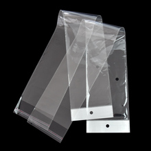 12.5x62cm Long Transparent OPP Poly Bags Slef-Adhesive Clear Plastic Hairpiece Package Bag 100 pieces