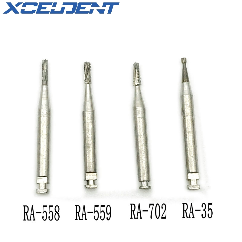 5pcs/box Dental Tungsten Steel Carbide Burs Dental Lab Low Speed Tungsten Carbide Burs RA Burs Dentistry Instrument