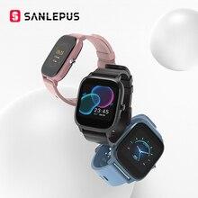 SANLEPUS P8 1.4 inç akıllı İzle erkekler tam dokunmatik spor izci kan basıncı akıllı saat kadınlar GTS için Smartwatch Xiaomi