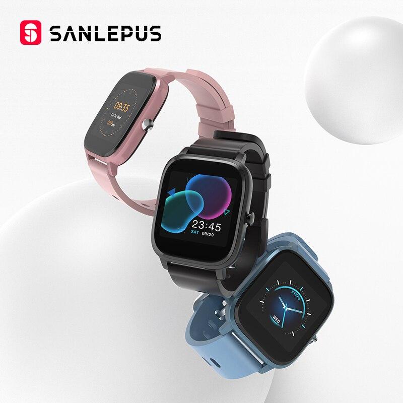 SANLEPUS P8 1.4 Inch Smart Watch Men Full Touch Fitness Tracker Blood Pressure Smart Clock Women GTS Smartwatch For Xiaomi