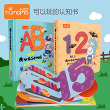 56 pages Baby Learning book Children alphabet learning counting 123 ABC english card Toys