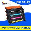 INKARENA 4 tóner de color compatible cartucho de CLT-406s K406s para Samsung Xpress C410w C460fw C460w CLP 365w CLP-360 CLX 3305 3305fw