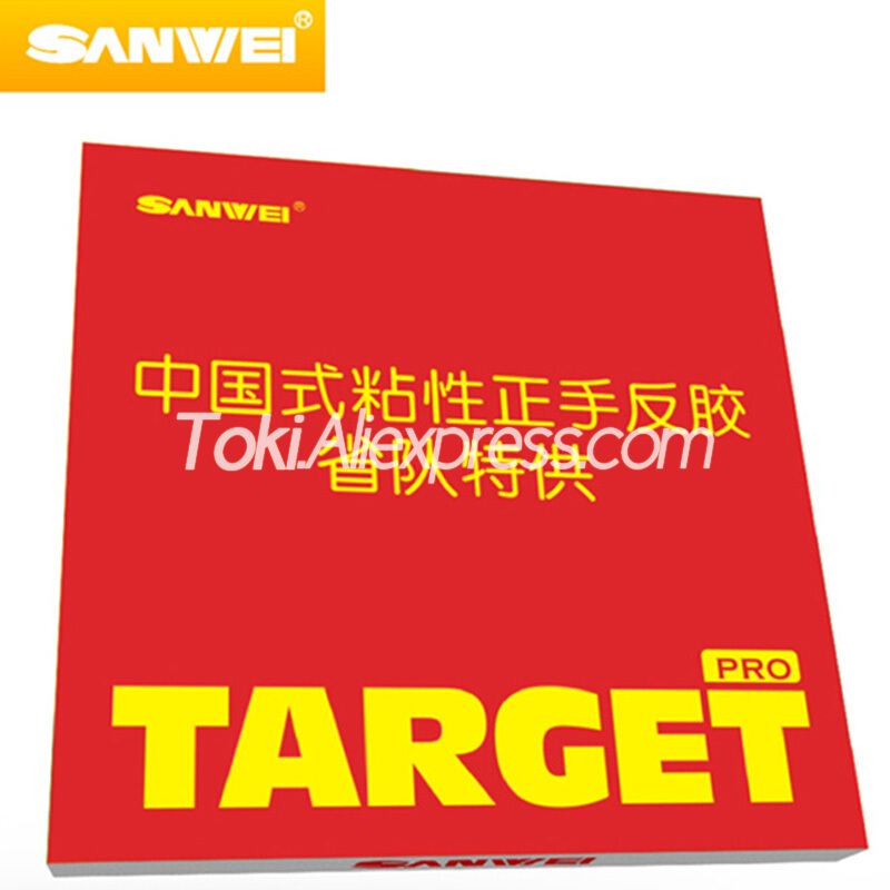 SANWEI TARGET Provincial (Sticky Forehand Offensive) SANWEI Table Tennis Rubber Target Pro SANWEI Ping Pong Sponge