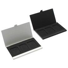 Алюминиевый сплав чехол для карты памяти держатель для карт 3 шт sd-карт-SCLL