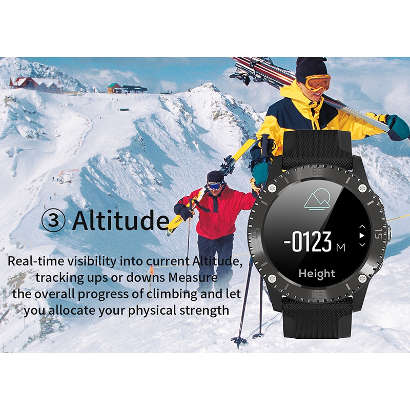 Relógio inteligente rastreador de fitness com pressão