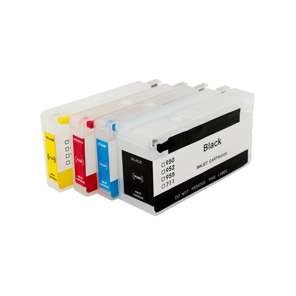 refillable for HP 952 953 954 955 <font><b>952XL</b></font> 953XL 954XL 955XL ink cartridge for HP OfficeJet Pro 7740 8210 8710 8715 8716 8718 image