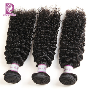 Image 2 - Racily Hair 1/3/4 Pcs Brazilian Kinky Curly Hair Bundles Human Hair Extensions Natural Black Remy Hair Weave 8 28 Inches Bundles