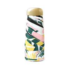 Mini Pocket Small Size Rain Umbrella Women Anti UV Sun Umbrella Windproof Light 5 Folding Portable Umbrellas For Boy Girl