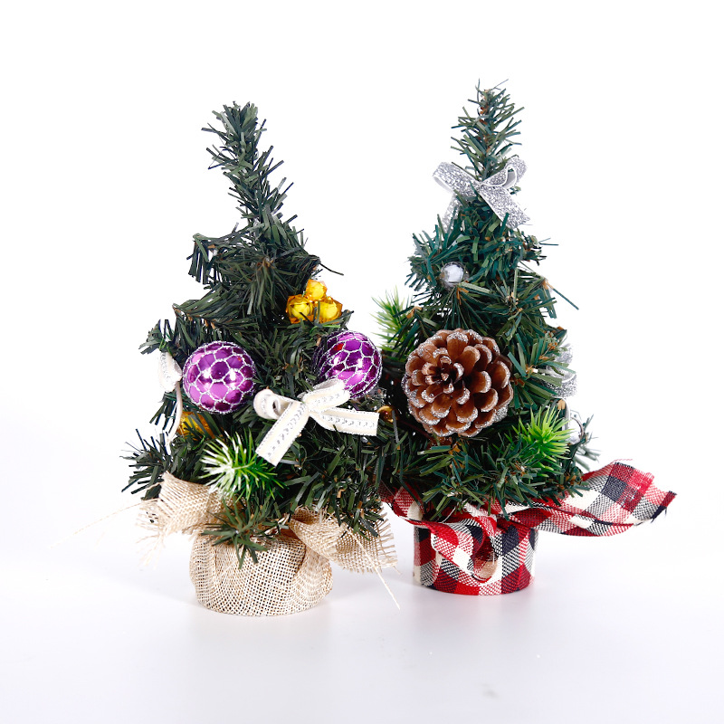 Christmas Tree Combo 20 Cm Desktop Small Mini Encryption Christmas Tree Counter Decoration Gift Christmas Ornaments