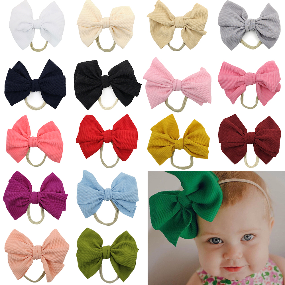 20pcs no arco headbands bebe meninas acessorios para o cabelo criancas presente artesanal macio nailon bandana