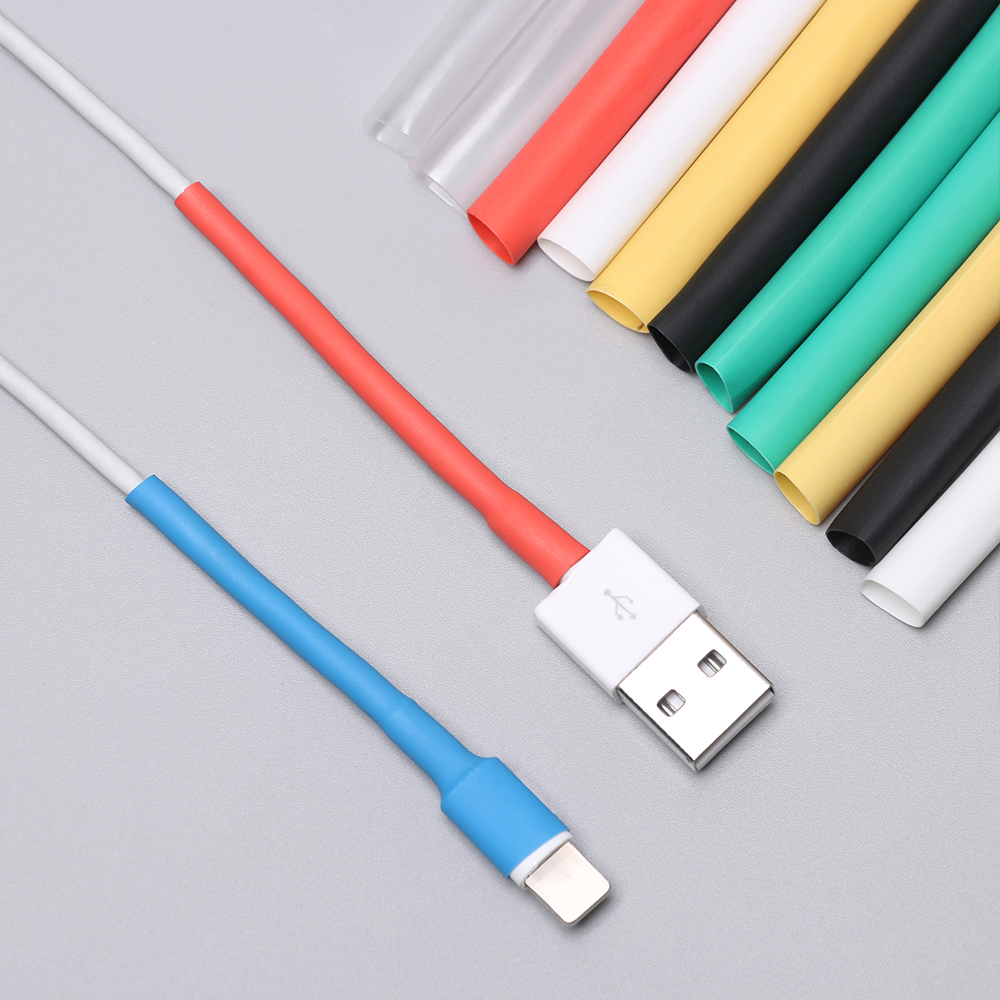 10Pcs 10cm Cable Protector Heat Shrink Tube Organizer Cord Management Cover For  IPhone 5 5s 6 6s 7 7p 8 8p Xs Earphone MP3 USB