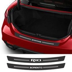 For Kia Sportage 3 4 QL Rio 3 4 K2 Optima Sorento Picanto Ceed Forte Cadenza K9 Soul Carbon Fiber Car Trunk Stickers Accessories