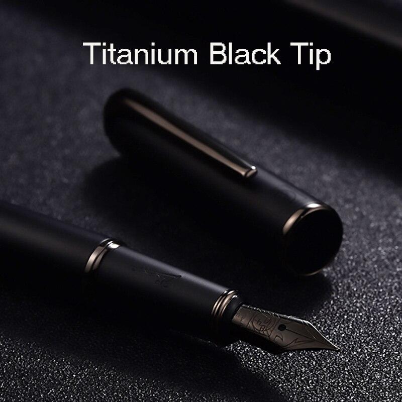 Picasso Pimio Black Metal Fountain Pen Titanium Black EF/M/Bent Nib 0.38/0.6/1.0mm Matte Barrel Gift Box Option Business Pen Set